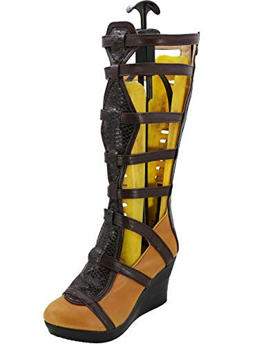 GOTEDDY Women's Diana Cosplay Boots Costume Shoes Strappy Gladiator Sandal (8 M US -