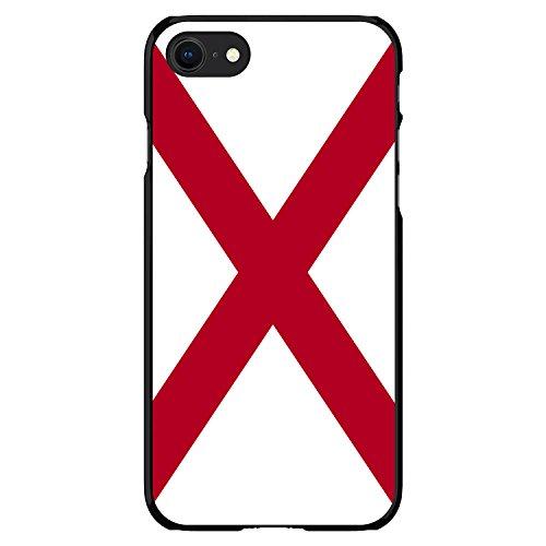 iPhone 7 iPhone 8 Ultra Slim Hard Black Plastic Cover Thin Case By DistinctInk - Alabama State Flag - US State Flag