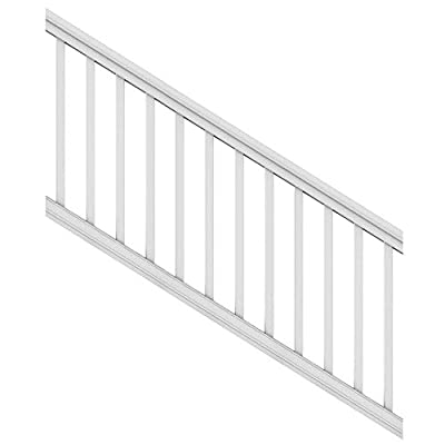"""Veranda 6 ft. x 36"""" White DIY Pro Vinyl Stair Railing Kit"""