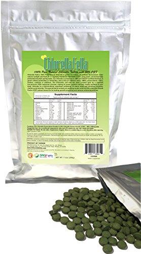 Chlorella Growth Factor 30 CGF Enriched Pure Natural Taiwan Premier Quality Chlorella Tablets 800 250mg Tabs Per Pack 7.1oz
