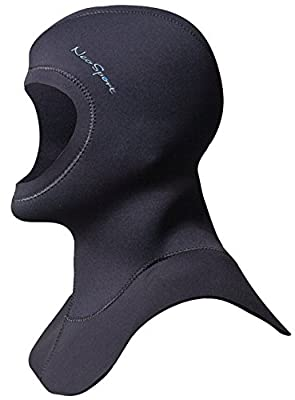 Neo Sport Multi-Density Wetsuit Hood available in three thicknesses 3/2MM - 5/3MM - 7/5MM with Flow Vent to eliminate trapped air. Anatomical fit. Skin Neoprene face seal which can be trimmed by owner for custom fit.