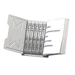 Master Catalog Rack Starter Set, Capacity: 6 Inches/45 Degrees, Gray (MAT966RS3G)