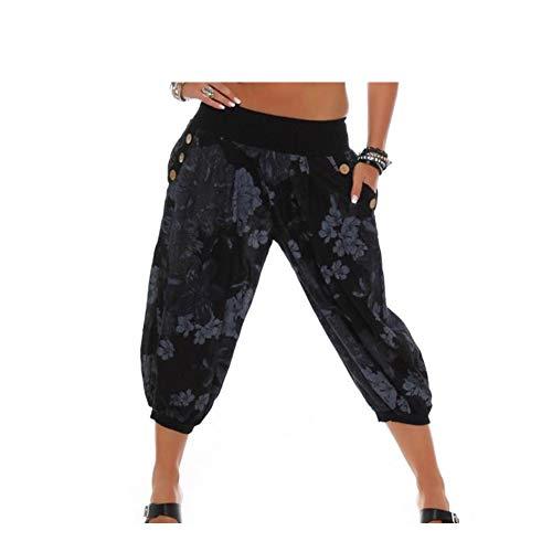 a5e79eedba Dettagli su Yigoo Leggero Estivo Pantaloni Harem Pantaloni di Donna (48 EU  5XL|H132-001)