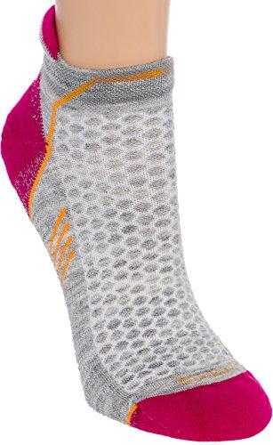 Sockwell Womens Incline Inspire Athletic No Show Micro Socks  Light Grey  Medium Large