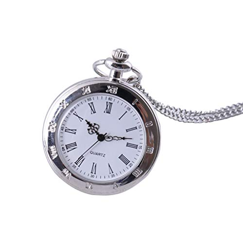Pocket Watch with Chain for Women Tronet Men and Women Couple Pocket Watch Retro Quartz Hanging Table Commemorative Table