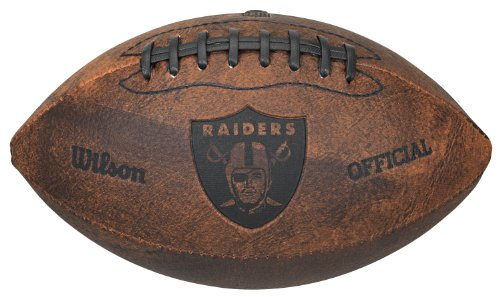 Throwbacks Nfl - NFL Oakland Raiders Vintage Throwback Football, 9-Inches