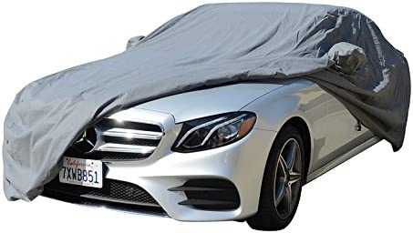 Color : Blue, Size : Cotton Compatible with Mercedes-Benz SLC 300 Car Cover with Inner Layer Cotton for All Weather and Season Waterproof UV Proof Outdoor Full Automobile Cover
