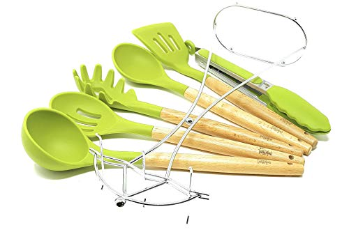 Betasteful Cooking Utensils Kitchen Utensil set | 6 Wooden