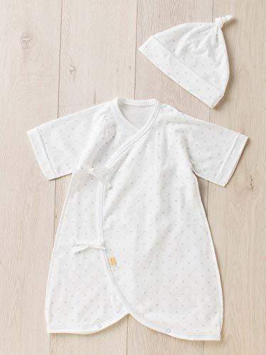 738d5ab82a1ed ANGELIEBE エンジェリーベ オリジナル 日本製 フライス 星柄 フード付き コンビ肌着 赤ちゃん 男の子 女の子 新生児