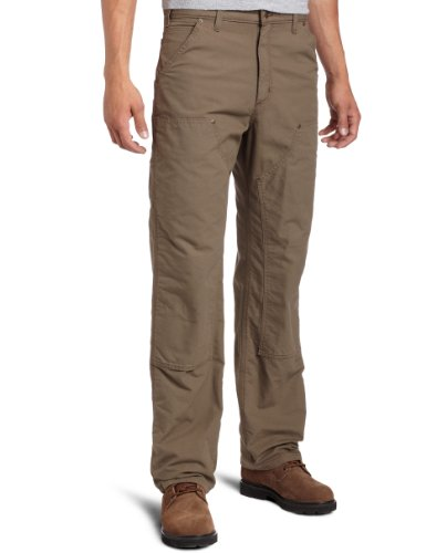 Carhartt Men's Double Front Canvas Work Dungaree,Light Brown,32 x 32