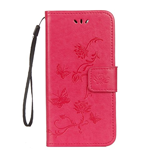Pour Flip 9 Carte Case rose De Rouge Etui Honor Fonction Et Huawei Stand Coque Crédit Cover Rose Housse Avec Protection Lite Fentes Herbests FqvX8wn