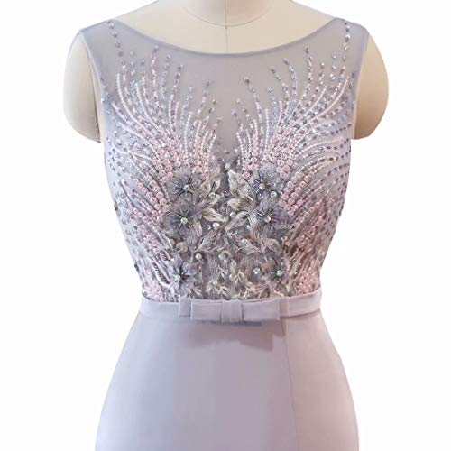 Hohe der V Ballkleider Formale Spitze Frauen Weinrot Split Lange Ausschnitt Perlen Abendkleid IwnSEEqxYa
