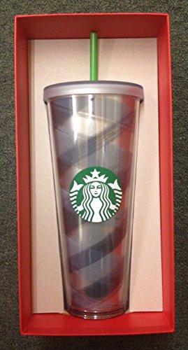 Starbucks Black Plaid Straw Collectors