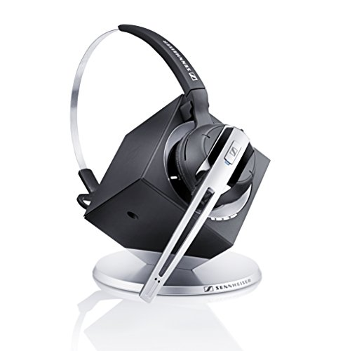 ner Convertible Wireless Office Headset with Microphone - DECT 6.0 (Classic Silver) ()