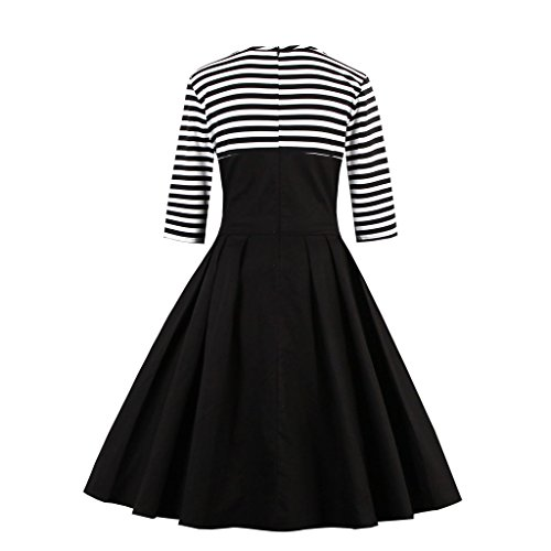 Retro Damen Kleid Vintage 50er M DISSA Schwarz 38 M1335 Rockabilly Cocktail EU tw5Z64q