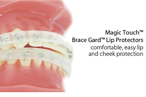 Our Bestseller Orthodontic Braces Lip Guard Protector Shield (1 set - Upper - Lower teeth) with Instructions By Cayenas