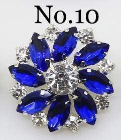RTYW 1PCSファッションラインストーンクリスタルボタンの花柄ボタンDIY銀金属裁縫装飾的な衣類付属品 (Color : N