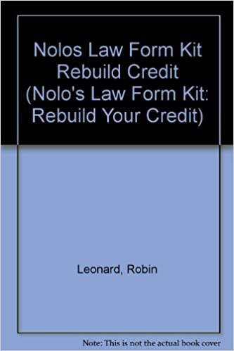Nolo Law Form Kit Rebuild Your Credit Solve Your Debt Problems - Law form