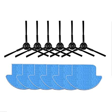 Amazon.com: JangGun Store 6X Mop Cloth +6X Side Brush Replacement kit for ilife v7s ilife v7s pro Robot Vacuum Cleaner Spare Parts Cleaning mop Cloth: Home ...