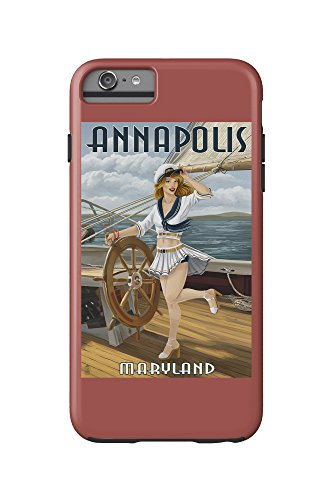 Annapolis, Maryland - Pinup Girl Sailing (iPhone 6 Plus Cell Phone Case Cell Phone Case, - Annapolis Kids For