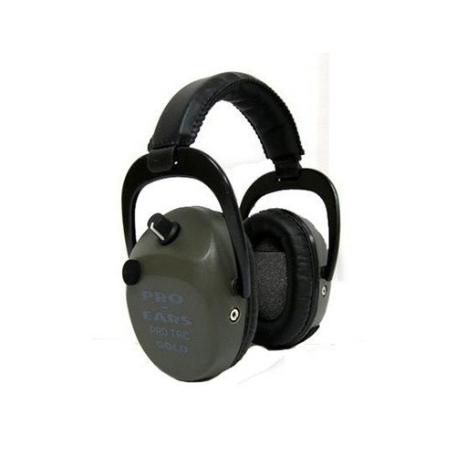 Pro Ears - Pro Tac Slim Gold - Military Grade Hearing Protection and Amplification - NRR 28 - Ear Muffs -  Lithium 123a Batteries - Black by Pro Ears