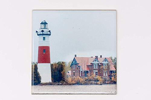 (Middle Island Lighthouse Ceramic Tile Trivet, Hand Imprinted Photograph)