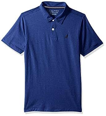 Nautica Boys Short Sleeve Solid Deck Stretch Polo Short Sleeve Polo Shirt - Blue - 4