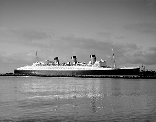 Photo Metal Photography Poster - Queen Mary ship Long Beach California 24 X (Queen Mary Ship Pictures)