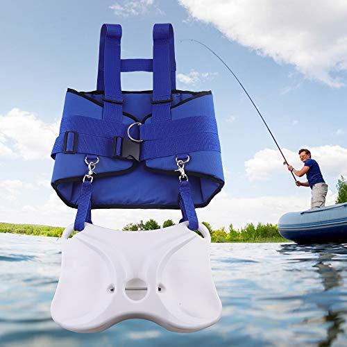 FlyHero Fishing Belt, Boat Fishing Rod Holder Fighting Belt w Shoulder Back Harness Package ()