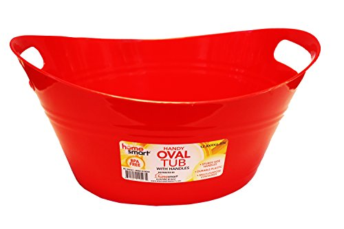 Oval plastic storage tubs with handle - Small size: (12.5