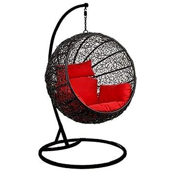 VIRASAT FURNITURE & FURNISHING Rattan and Wicker Hanging Swing (Brown)