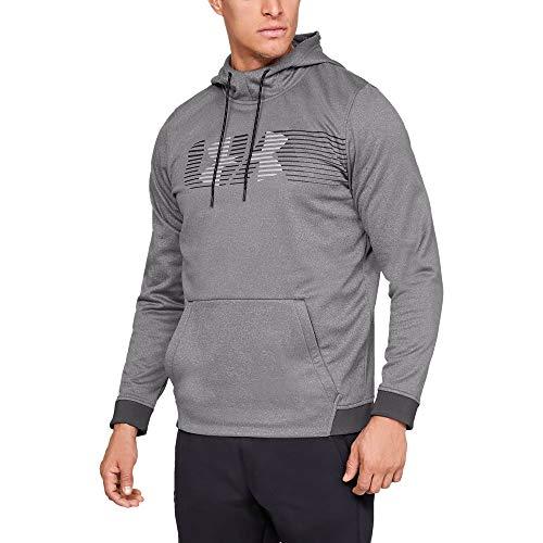 Under Armour Men's Armour Fleece Spectrum Pullover Hoodie, Charcoal Light Heath (019)/Overcast Gray, X-Large