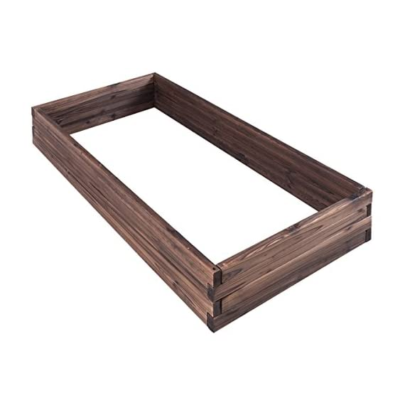 Giantex Raised Garden Bed Wood Outdoor Patio Vegetable Flower Rectangular Planter 9 🌻〖Ample Room for Planting〗- The overall dimension is 47''x24''x9''(LXWXH). This garden bed provides sufficient space for various plants growth like flowers or vegetables. Rectangular form bed which is easy and convenient for you to look after plants well inside it. 🌻〖Simple Assembling Work〗- Screws and assembly manual are included. Accurate and detailed assembling steps are presented in graphic form which is clear and easy to understand. 🌻〖Stable and Long-lasting Frame〗- This garden be is constructed with environmental friendly fir wood that is durable and stable enough to make plants grow healthily.