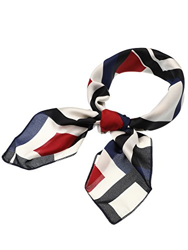 Flight Attendant Mini - SATINIOR Silk Like Scarf Square Scarf Satin Headscarf Neck Scarves for Women and Girls (Print 10)