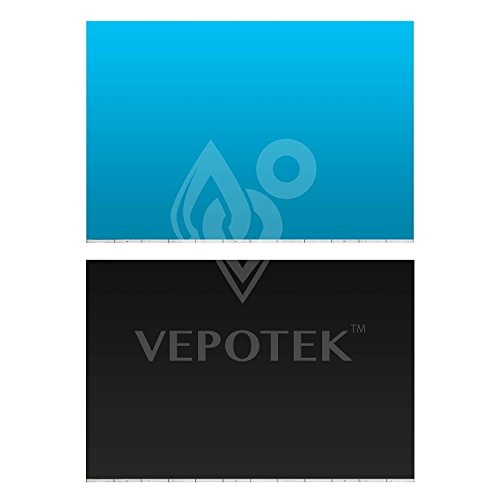 Vepotek Aquarium Background Ocean Light Blue/Black Double sides (24''X36'') by Vepotek