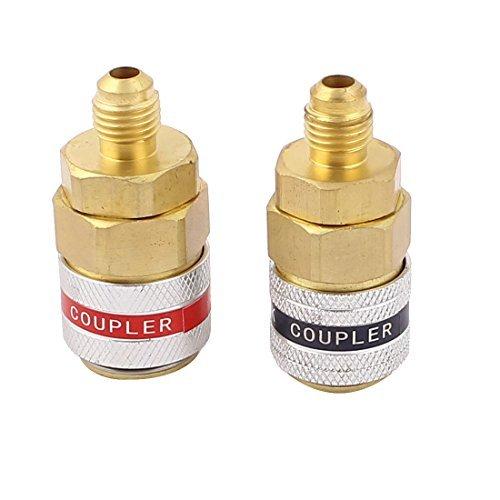 Rapido Couplers - eDealMax Métal Réfrigérateur Haut Adaptateur bas Coupler côté Rapide 2 pièces Rouge Vert