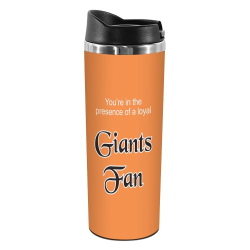 Tree-Free Greetings TT02100 Giants Baseball Fan 18-8 Double Wall Stainless Artful Tumbler, 14-Ounce ()