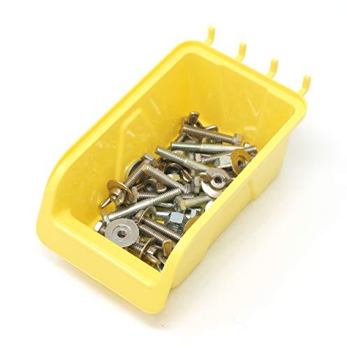 JSP Manufacturing Pegboard Bin Kit - Pegboard Parts Storage Craft Organizer Tool Peg Board Workbench Bins Accessories 5 PACK LARGE by JSP Manufacturing (Image #3)