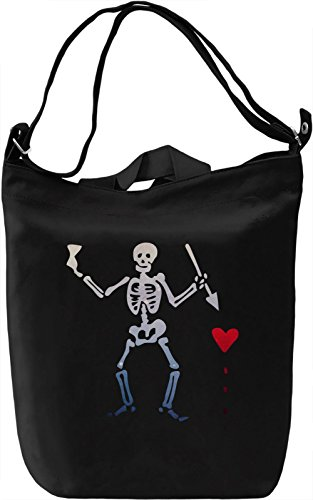 Black Sails Pirate Flag Borsa Giornaliera Canvas Canvas Day Bag| 100% Premium Cotton Canvas| DTG Printing|