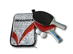 Ping-Pong Starter-Set Tischtennis 2 Schläger + Tasche + 2 Bälle