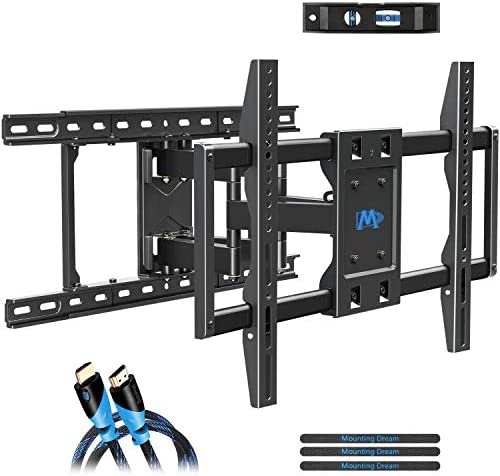 Mounting Dream TV Wall Mounts TV Mount for 42-70inch TVs, Full Motion TV Wall Mount TV Bracket with Max VESA 600x400mm up to 100 LBS, Full Motion TV Mount with Articulating Arms Fits 16-24 Wood Studs