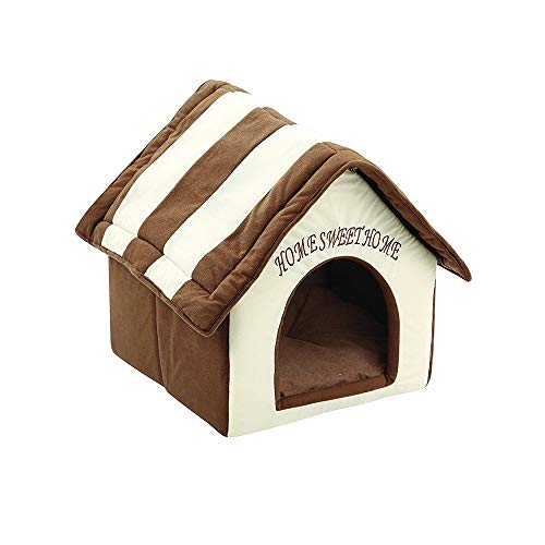 Soft-Sided Brick Pet House & Mat,Lotus.flower Portable Indoor Pet Bed Dog House Soft Warm and Comfortable Cat Dog Sweet Room (Multicolor)