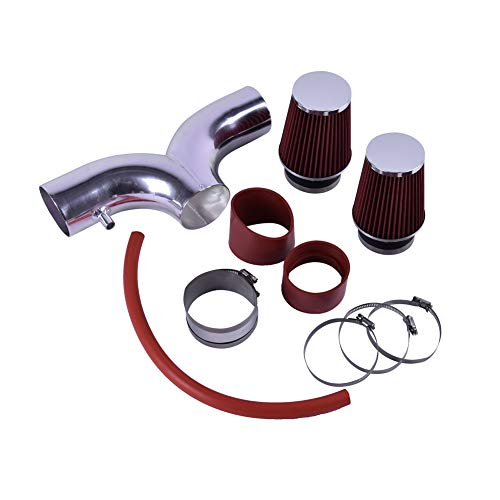 Air Ram Corvette - ACUMSTE Dual Ram Air Intake Kit with Red Filter Fit for 2001-2004 Chevrolet Corvette with 5.7L V8 Engine
