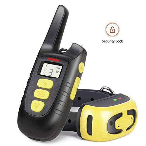 (Fypet Shock Collar with Remote,2000ft/IP67 Waterproof Electric Shock/Vibration/Beep Control Dog Training Collar for Small Medium Dogs)