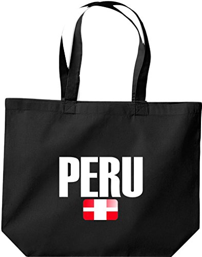 Perú Land Fútbol Negro Países De Große Compra Shirtstown Bolsa xqCwnO1xZ