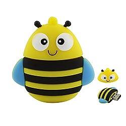 Usbkingdom 8GB USB 2.0 Flash Drive Cartoon Animal Bee Shape USB Pen Drive Memory Stick