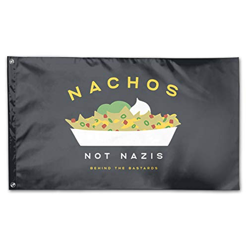 BOUFLAGON Nachos Not Nazis 3x5 Ft Flag - Vivid Color - Tea Party Flags ()