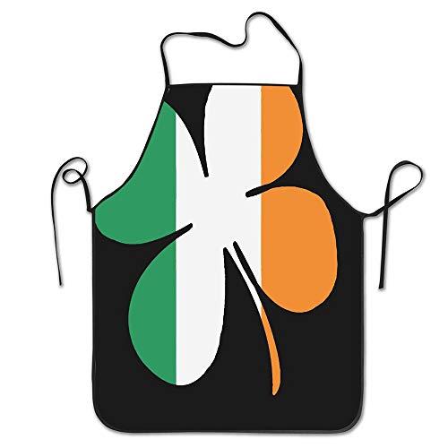 - PoppyAnthony Jianyue Clover Ireland Flag Cooking Apron Personalized Chef Apron for Women Men Kitchen Bib Apron