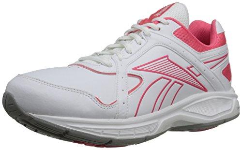Reebok Women's DMX Max Select RS Walking Shoe,White/Victory Pink,7 M US