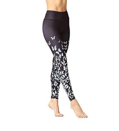 きらきらモード混雑Ladies's Printed Yoga Leggings Workout Stretch Active Pants Ankle Length